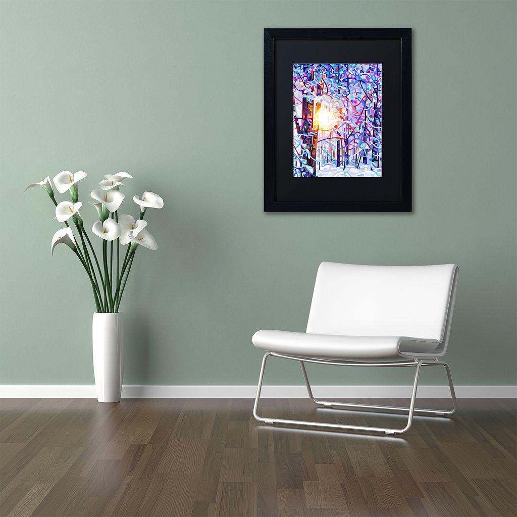 Trademark Fine Art Early Riser Matted Black Framed Wall Art