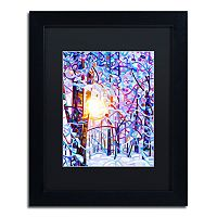 Trademark Fine Art Early Riser Matted Black Framed Wall Art