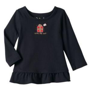 Baby Girl Jumping Beans® Glitter Ruffle Tunic