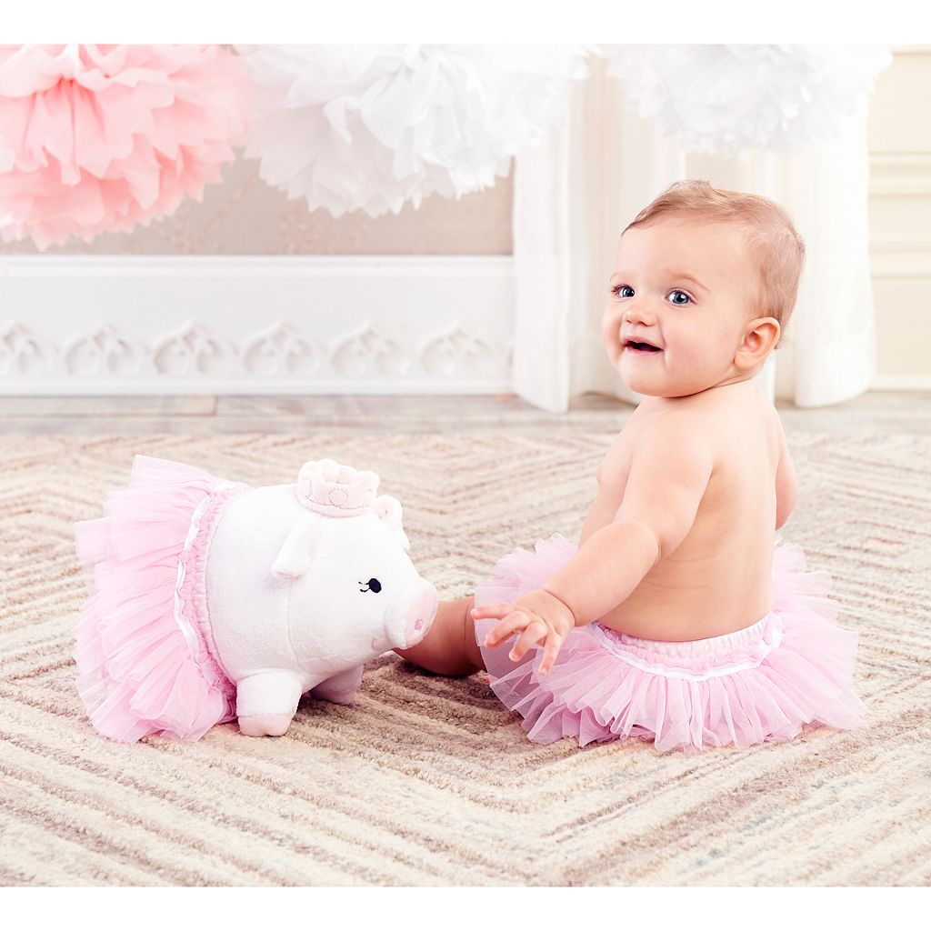 Baby Aspen Princess Plush Pig & Tutu Bloomers Gift Set