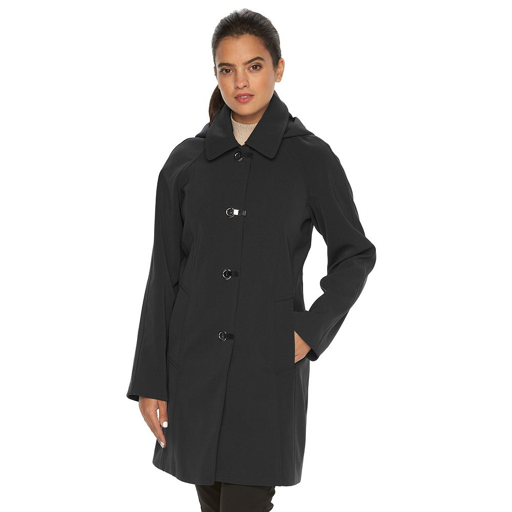 Towne by London Fog Hooded Rain Jacket