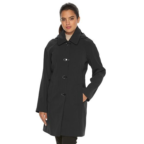 Women's Towne by London Fog Hooded Rain Jacket