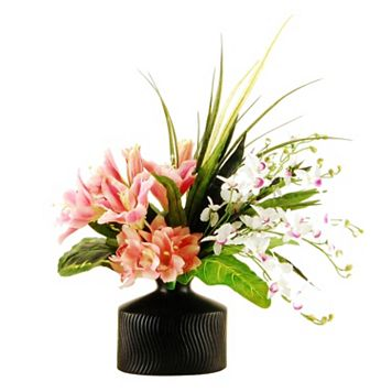 Designs by Lauren Artificial Tropical Lily & Orchid Arrangement