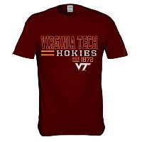 Men's Virginia Tech Hokies Right Stack Tee