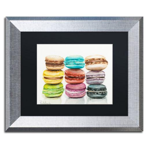 Trademark Fine Art 9 Macarons Silver Finish Matted Framed Wall Art