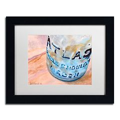Trademark Fine Art Atlas Jar Matted Black Framed Wall Art