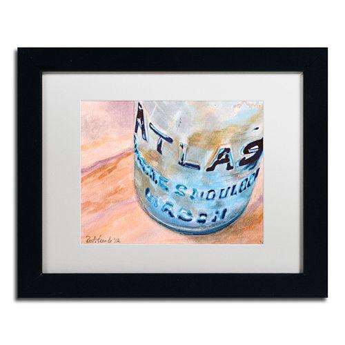 Trademark Fine Art Atlas Jar Matted Black Framed Wall Art