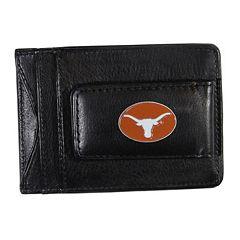 Texas Longhorns Black Leather Cash & Card Holder