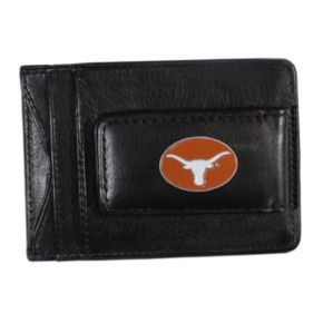 Texas Longhorns Black Leather Cash & Card Holder