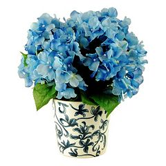 Designs by Lauren Artificial Hydrangea Potted Plant
