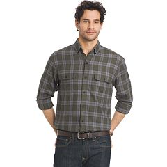 Men's Arrow Plaid Classic-Fit Button-Down Shirt