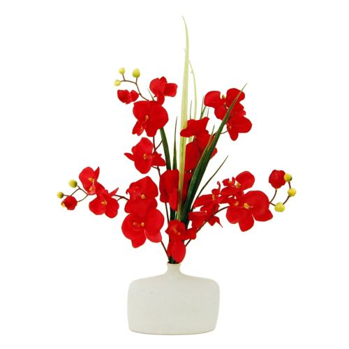 Designs by Lauren Artificial Orchid & Bottleneck Vase