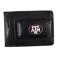 Texas A&M Aggies Black Leather Cash & Card Holder