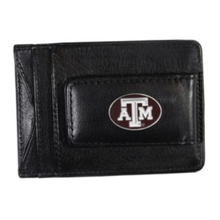 Texas A&M Aggies Black Leather Cash & Card Holder