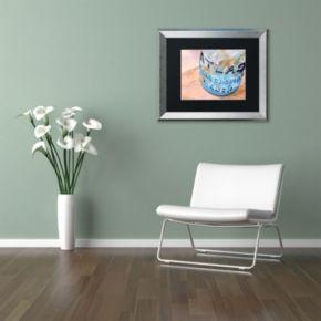 Trademark Fine Art Atlas Jar Silver Finish Matted Framed Wall Art