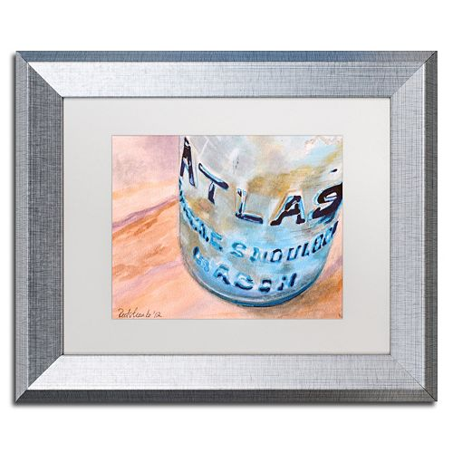 Trademark Fine Art Atlas Jar Silver Finish Matted Framed Wall Art