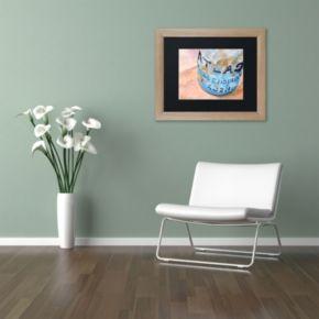 Trademark Fine Art Atlas Jar Birch Finish Matted Framed Wall Art