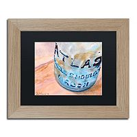 Trademark Fine Art Atlas Jar Birch Finish Matted Framed Wall Art