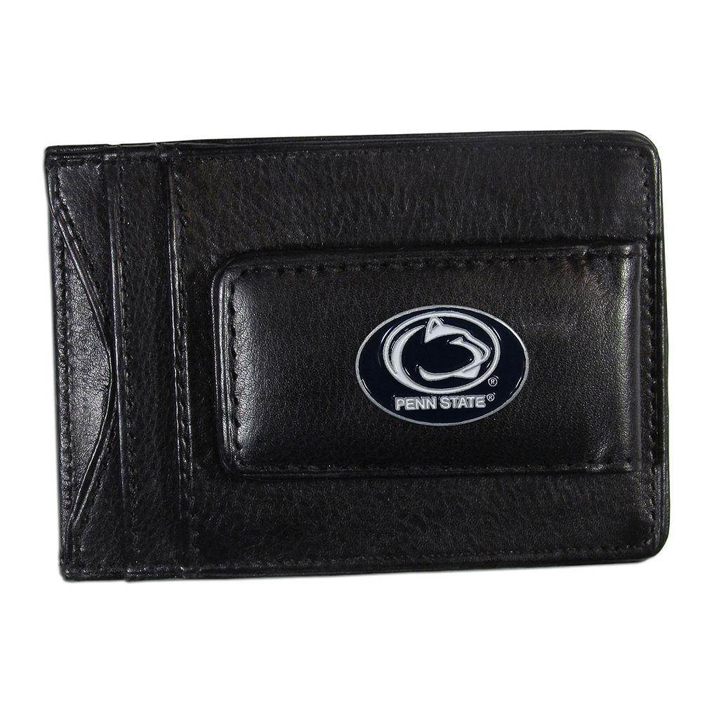 Penn State Nittany Lions Black Leather Cash & Card Holder