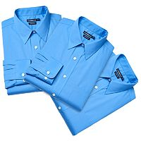 Men's Croft & Barrow® 3-pack Classic Fit Broadcloth Dress Shirts