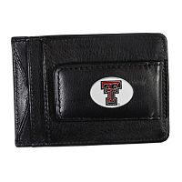 Texas Tech Red Raiders Black Leather Cash & Card Holder