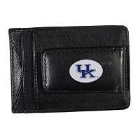 Kentucky Wildcats Black Leather Cash & Card Holder