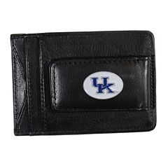 Kentucky Wildcats Black Leather Cash & Card Holder