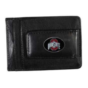 Ohio State Buckeyes Black Leather Cash & Card Holder