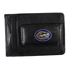 Florida Gators Black Leather Cash & Card Holder