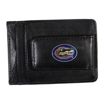 Florida Gators Black Leather Cash & Card Holder