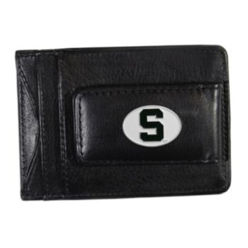 Michigan State Spartans Black Leather Cash & Card Holder