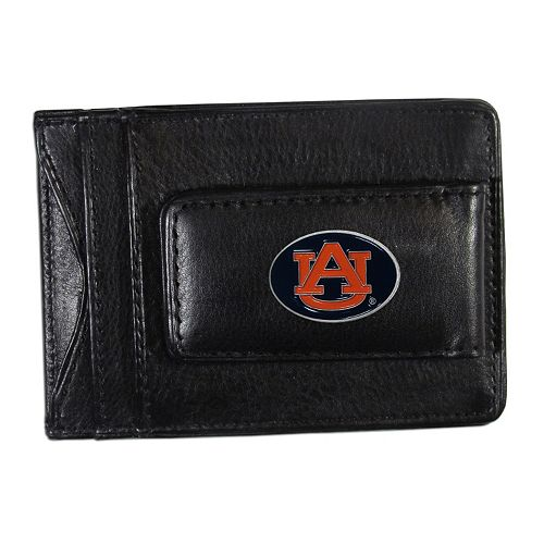 Auburn Tigers Black Leather Cash & Card Holder
