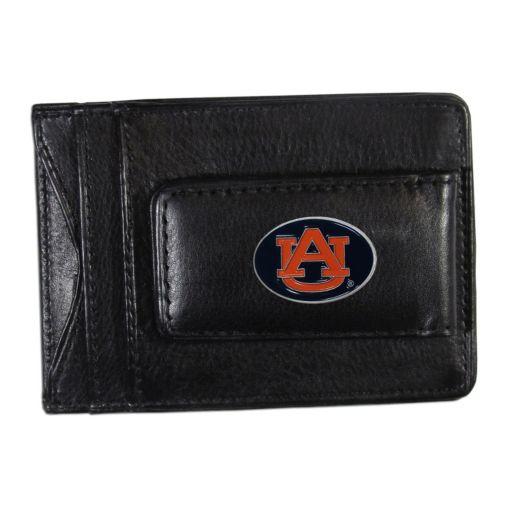 Auburn Tigers Black Leather Cash & Card Holder