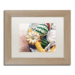 Trademark Fine Art Autumn Gourds Matted Framed Wall Art