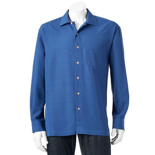 Men's Batik Bay Solid Easy-Care Casual Button-Down Shirt
