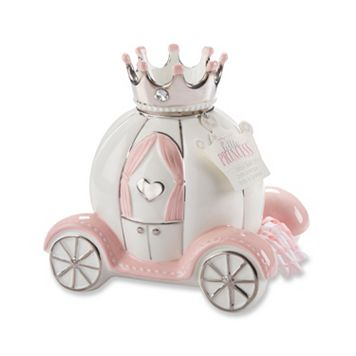 Baby Aspen Little Princess Ceramic Carriage Bank