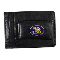 LSU Tigers Black Leather Cash & Card Holder
