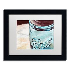 Trademark Fine Art Ball Jar Black Framed Wall Art