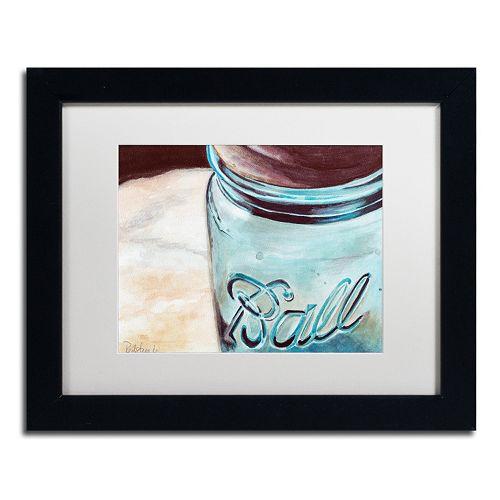 Trademark Fine Art Ball Jar Black Framed Wall Art