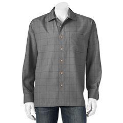 Men's Batik Bay Grid Easy-Care Casual Button-Down Shirt