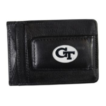 Georgia Tech Yellow Jackets Black Leather Cash & Card Holder