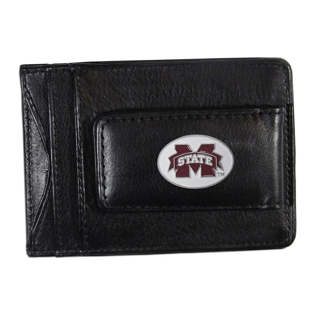 Mississippi State Bulldogs Black Leather Cash & Card Holder