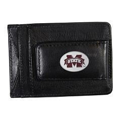 Mississippi State Bulldogs Black Leather Cash & Card Holder