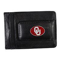 Oklahoma Sooners Black Leather Cash & Card Holder