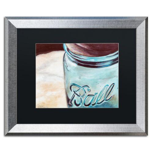 Trademark Fine Art Ball Jar Silver Finish Framed Wall Art