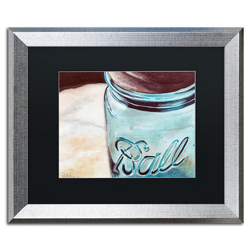Trademark Fine Art Ball Jar Silver Finish Framed Wall Art