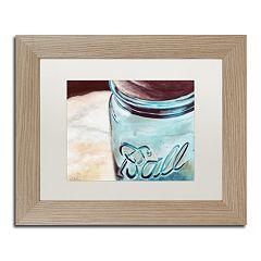 Trademark Fine Art Ball Jar Birch Finish Framed Wall Art