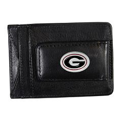 Georgia Bulldogs Black Leather Cash & Card Holder