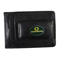 Oregon Ducks Black Leather Cash & Card Holder