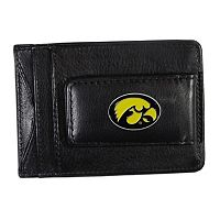 Iowa Hawkeyes Black Leather Cash & Card Holder